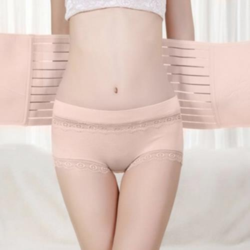 POSTNATAL MOTHER ELASTIC BREATHABLE RECOVERY POSTPARTUM GIRDLE ABDOMEN WAIST BELT MATERNITY BODY SHAPEWEAR (COMPLEXION)