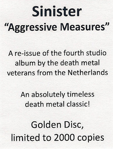 SINISTER Aggressive Measures (Limited Edition, Numbered, Reissue, Digipak) CD3.jpg