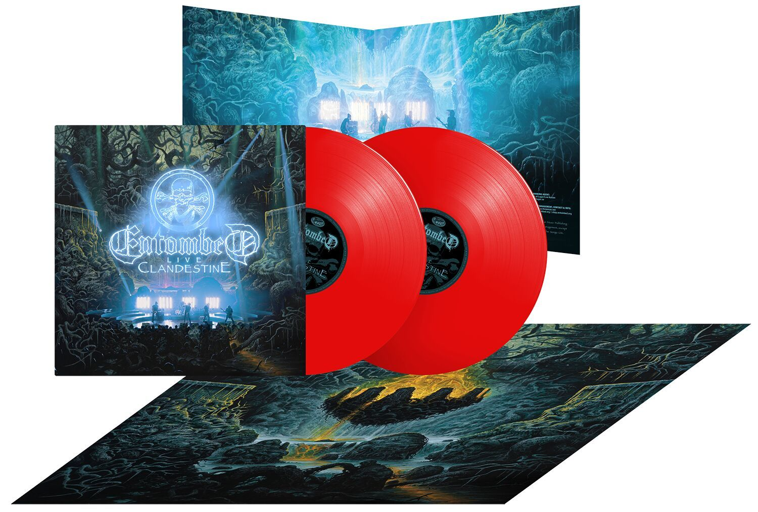 ENTOMBED  Clandestine - Live (Deluxe Edition, Limited Edition, Red) 2LP.jpg