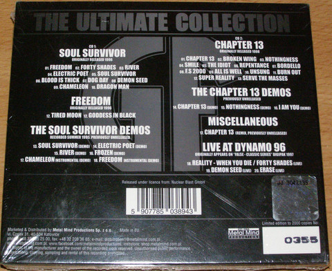 GOREFEST The Ultimate Collection Part 3 - Soul Survivor & Chapter 13 + Bonus (Limited Edition, Numbered, Reissue, Remastered) CD2.jpg