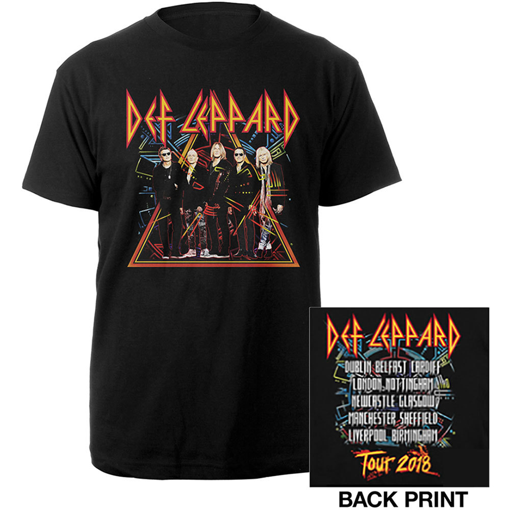 DEF LEPPARD Unisex Tee 2018 Tour Photo (Ex. Tour-Back Print) tshirt.jpg