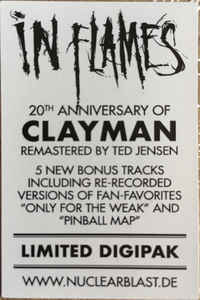 (Pre-order) IN FLAMES Clayman (reissue 2020 Limited Edition, Remastered, Digipak) CD3.jpg