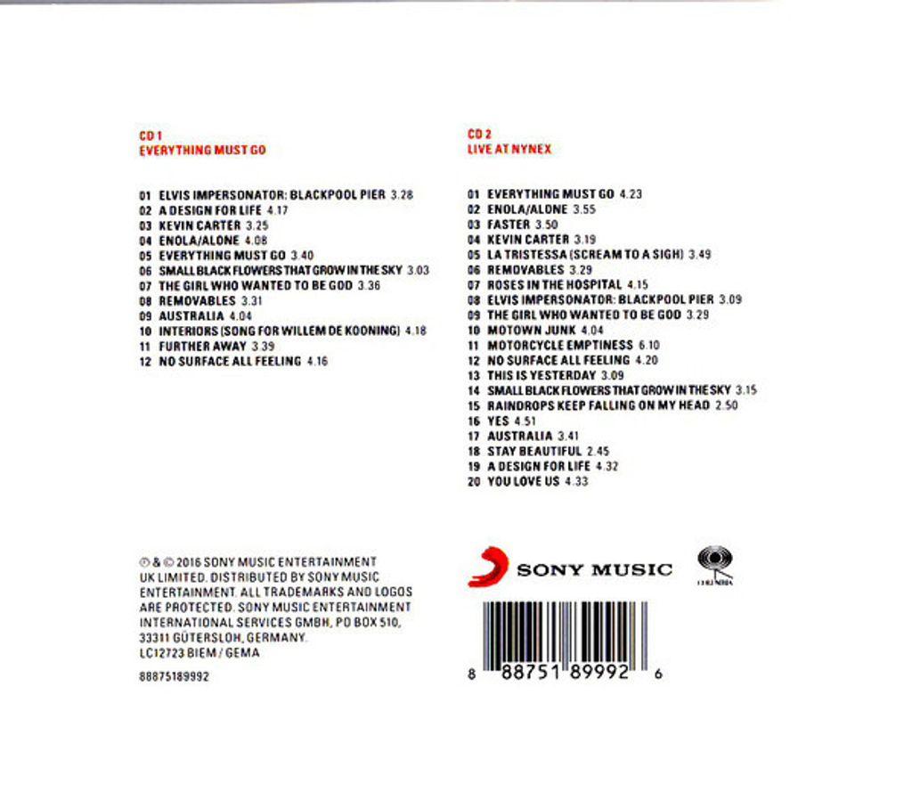 MANIC STREET PREACHERS Everything Must Go (Reissue, Remastered, Tri-fold Cardboard Sleeve) 2CD2.jpg
