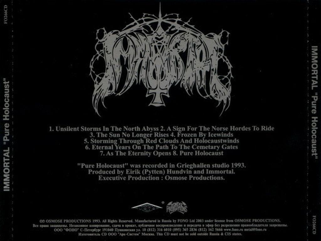 (Used) IMMORTAL Pure Holocaust CD back.jpg