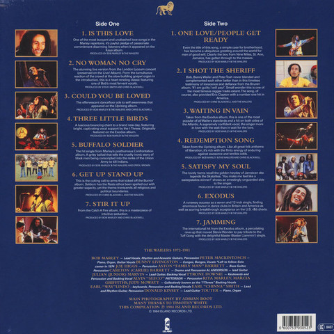 BOB MARLEY & THE WAILERS Legend - The Best Of Bob Marley And The Wailers LP2.jpg