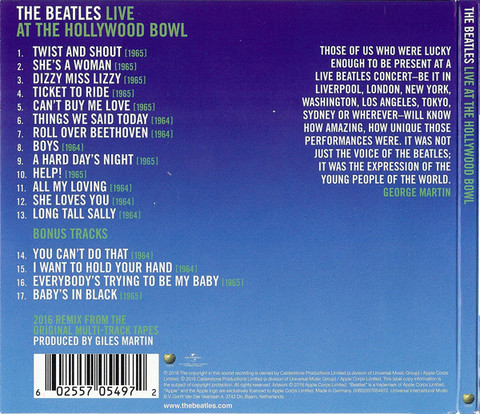 THE BEATLES Live At The Hollywood Bowl CD2.jpg