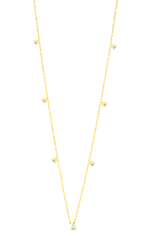Gold Vermeil Enamel With Stationed Charm NecklaceSENN-1 (GV7) CZ- WH (2).jpg