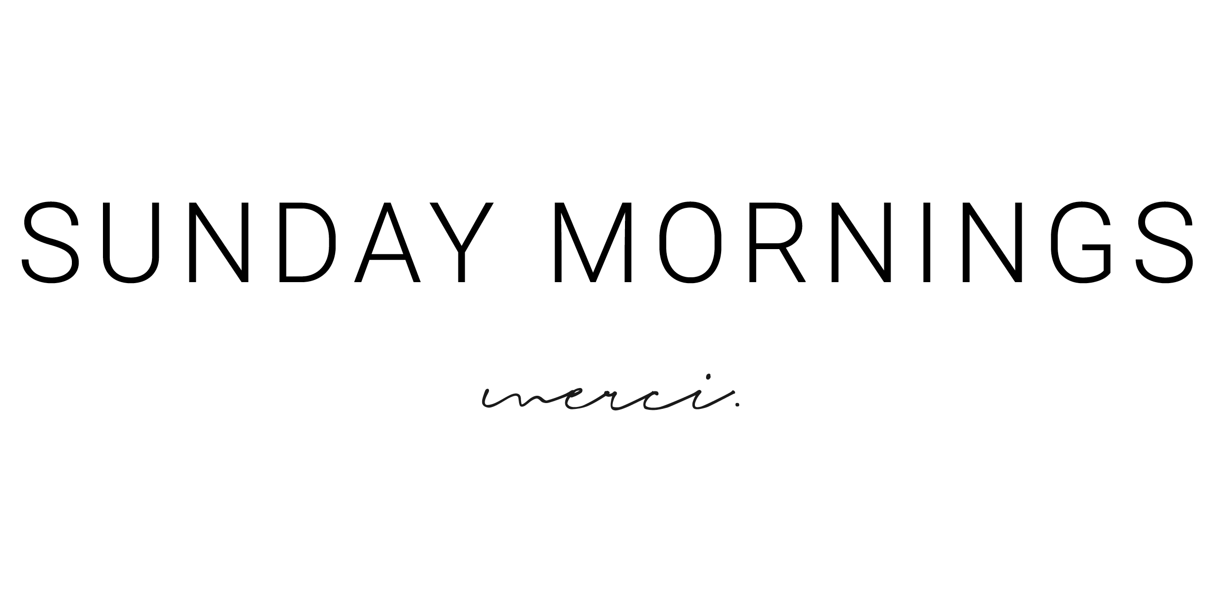 SUNDAY MORNINGS | MALAYSIA ONLINE FASHION STORE