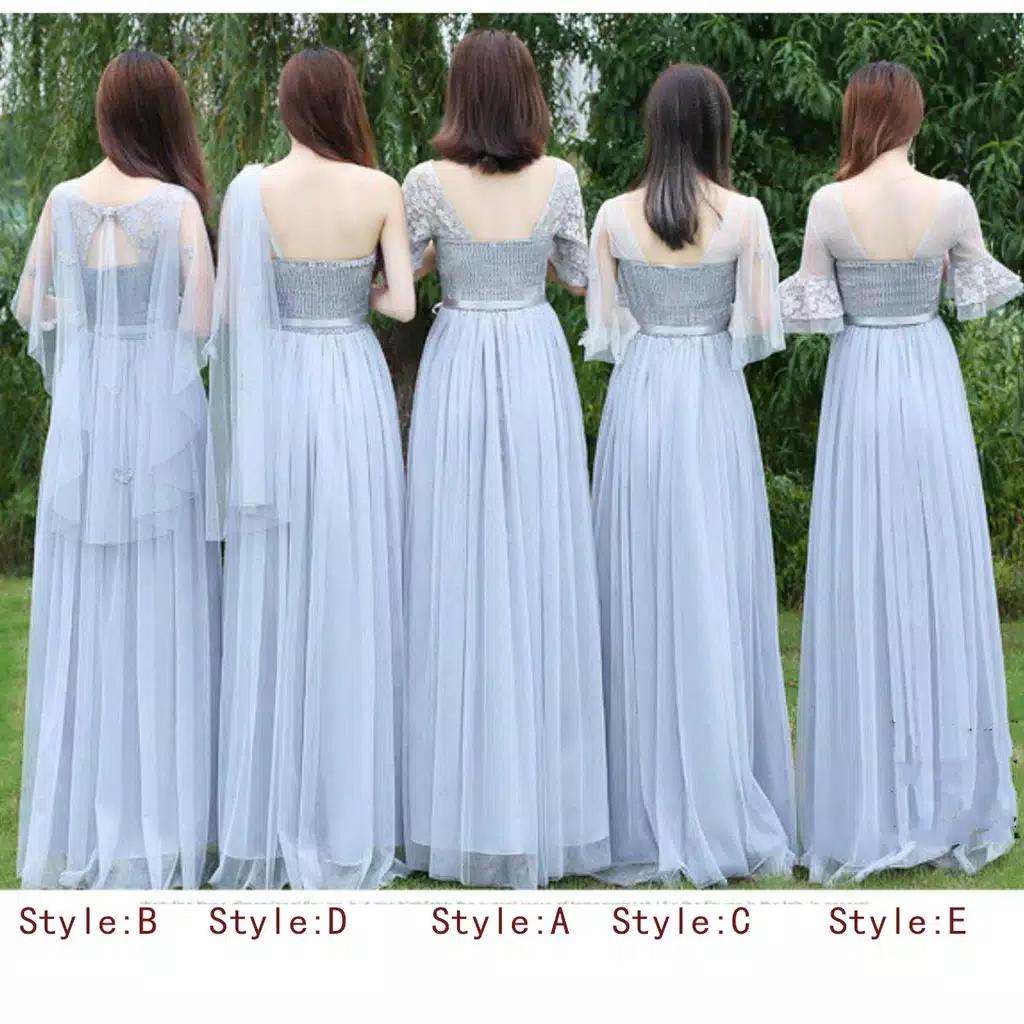 Model New Korean Slim Bridesmaid Skirt Sister dress Long.jpg