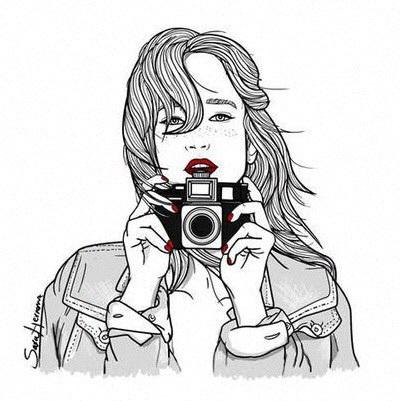 插圖輪廓,tumblr女孩-Favim.com-4207009.jpeg