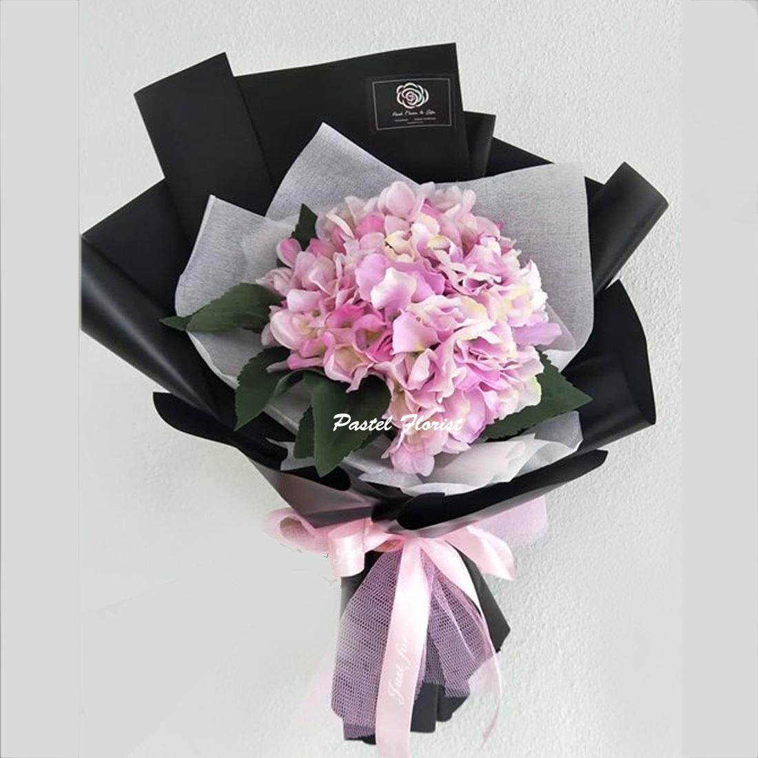 Artificial Hydrangea Bouquet – Pastel Flower & Gifts - Flower ...
