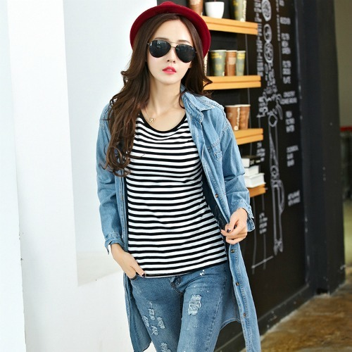 CASUAL STRIPE TOP (AS PICTURE)