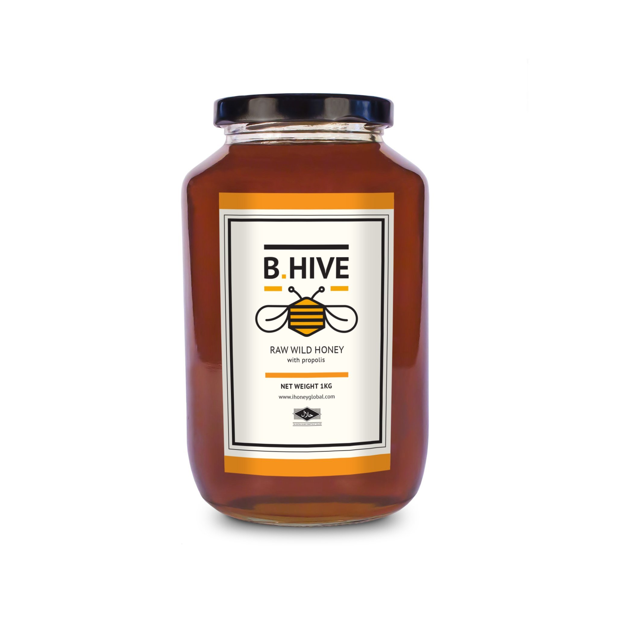 Raw Wild Honey 1Kg (with propolis only)
