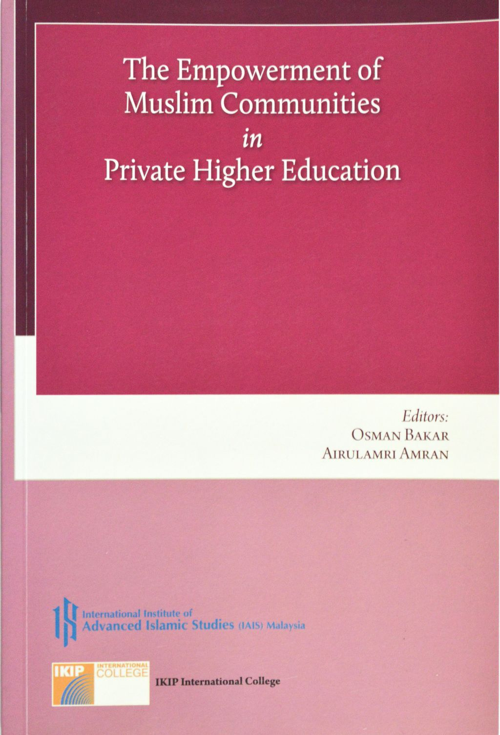 The Empowernment of Muslim Communities in Private Higher Education.jpg