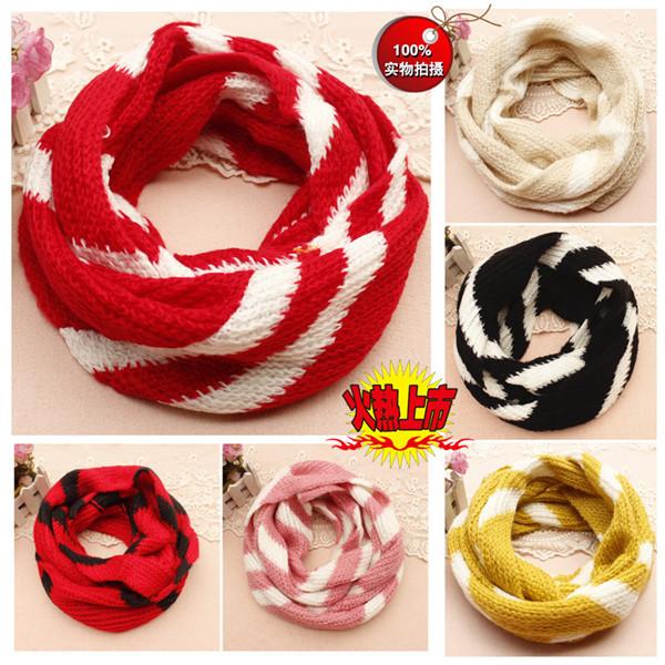 ready stock现货W593=拼色系保暖毛线围脖 warm wool scarf