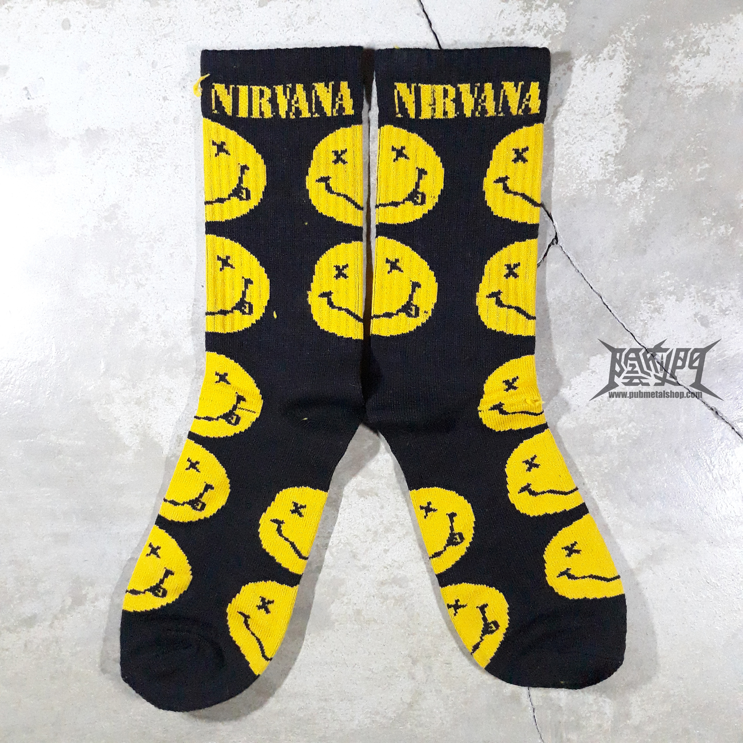 Nirvana Smiley face sock.jpg