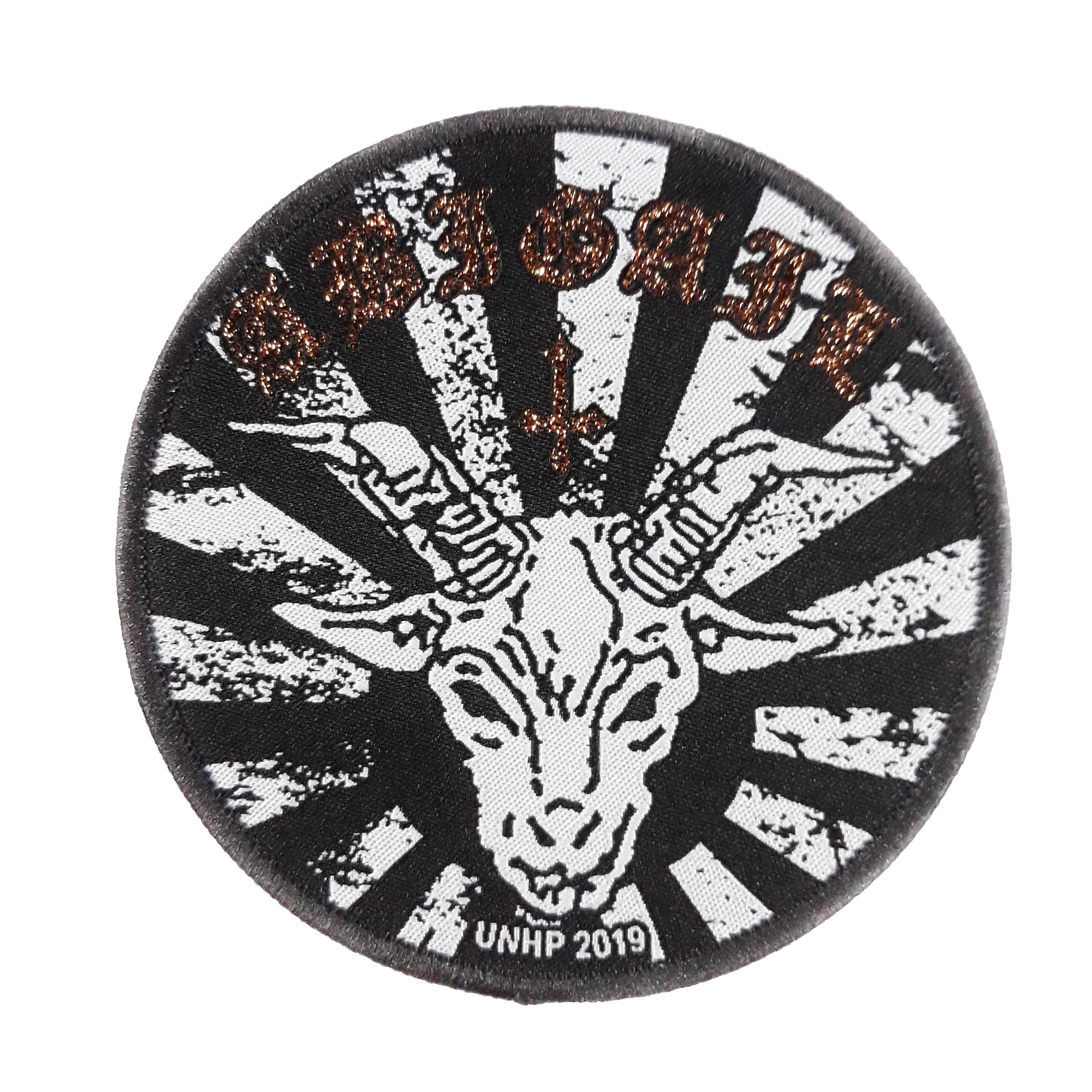 Abigail-Goat Black Woven Patch