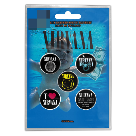 Nirvana-Nevermind Button Badge Pack.jpg