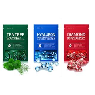 SOME BY MI Diamond Brightening Tea Tree Calming Glow Luminous Ampoule Hyaluron Moisturizing Mask 1pcs