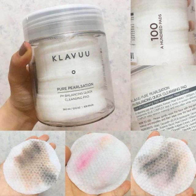 KLAVUU Pure PEARLSATION PH Balancing Quick Cleansing Pad 100pcs (380ml)