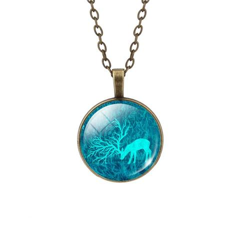LIEBE ENGEL Fashion Deer Necklace&Pendant Vintage Jewelry 1.jpg