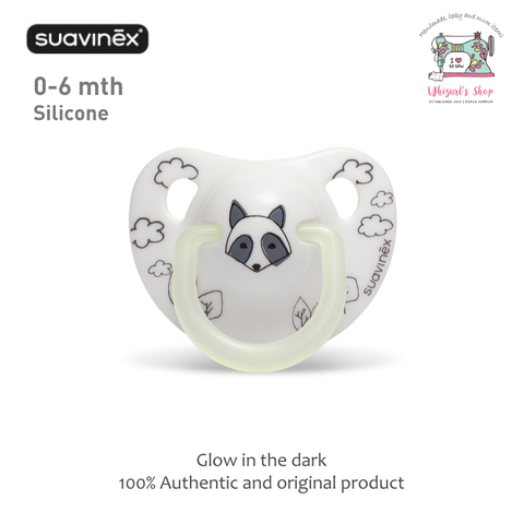 Suavinex - Night & Day Soother - White Racoon.png