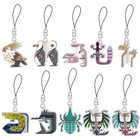 MHW I stained-glass-like icon dangler collection - Endemic Life Vol. 2 (One set consists of 10pcs).jpg