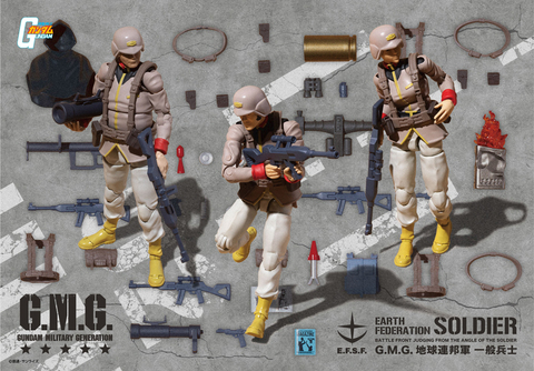 G.M.G. Mobile Suit Gundam Earth United Army Soldier (with gift).jpg