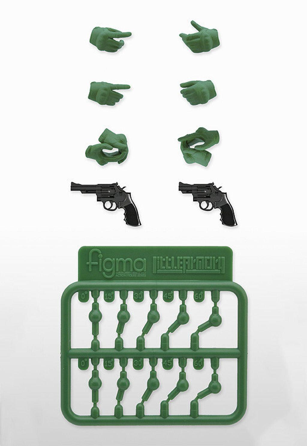 LAOP07 figma Tactical Gloves 2 - Revolver Set (Green).jpg