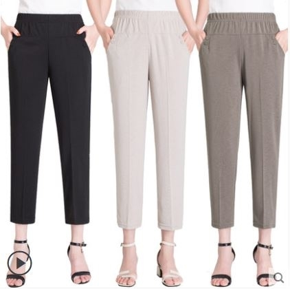 New-Arrival Pants Ankle Length Large Size 5XL Elastic High Waist Stretchable SGOS