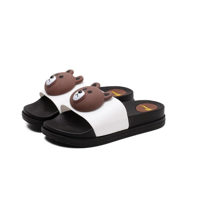 [Pre-Order] Line Friends Thick-Soled Sandals Female Summer Casual Slippers Beach Shoes