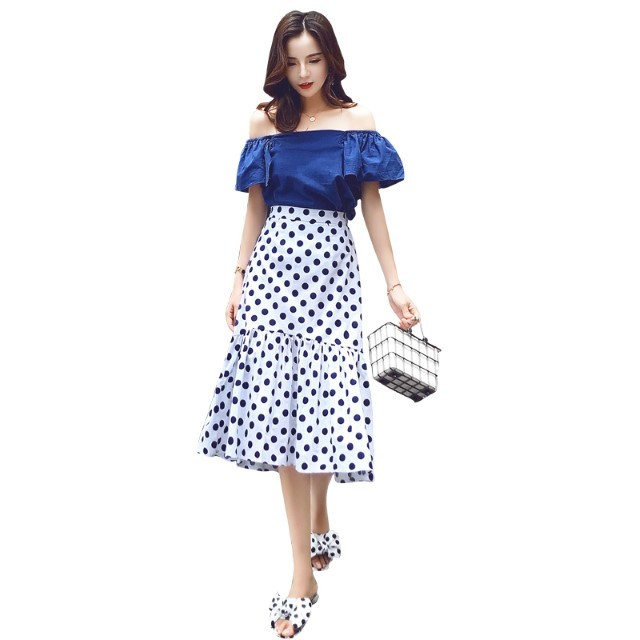 [Pre-Order] Suit Loose Female Trendy Fashion Casual Small Fishtail Skirt Summer