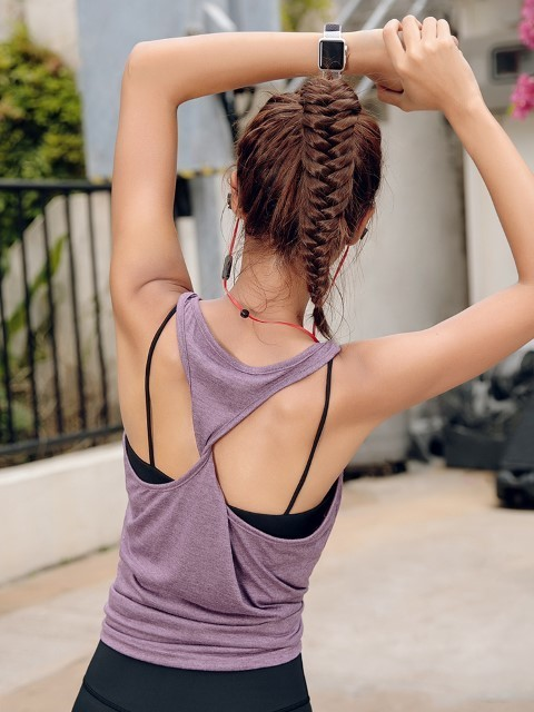 ​[Pre-Order] Beauty Back Sleeveless Sports Vest Female Running Fitness Wear Yoga Wear