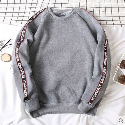 Pre-Order Autumn Long-Sleeved Sweater Male Korean Trend Loose Jacket Round Neck Sweater