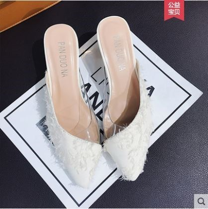 5491d13e96b  Pre-Order Chic Half Slippers Female Shoes Fashion Heels