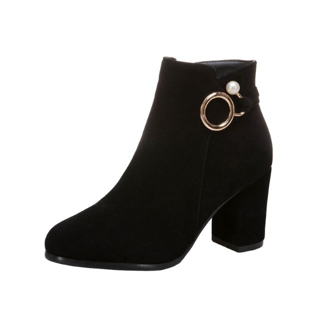 Pre-Order Designer Boots Female Boots Spring Autumn Thick Matte Short Boots