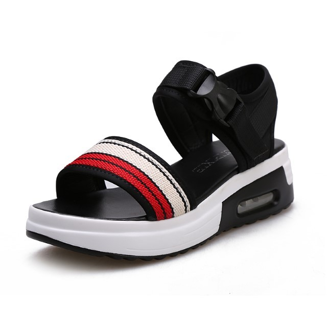 Pre-Order Summer Thick-Soled Sandals Female Wedges Cushion Sandals