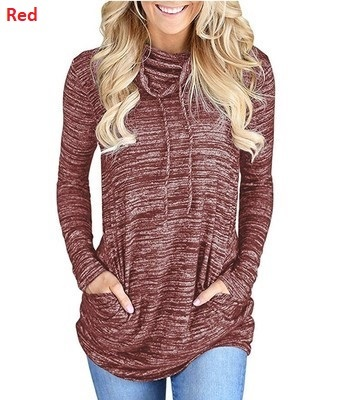 New-Arrival Women Long Sleeved Loose T-Shirt Plus Size