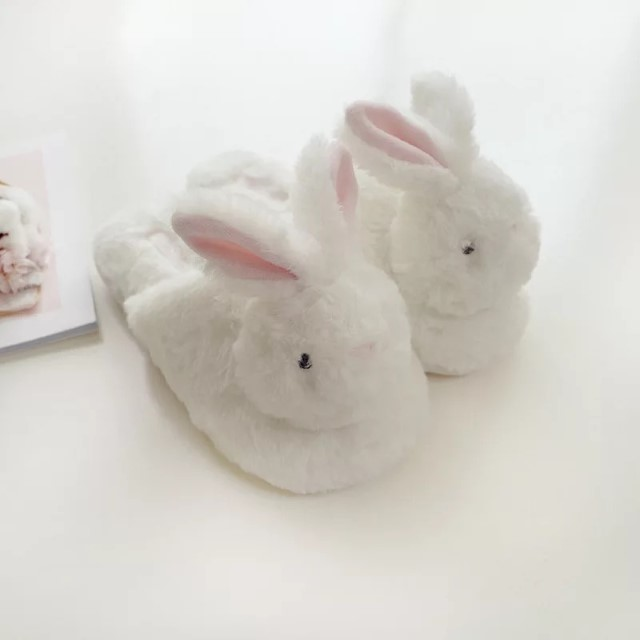 New-Arrival Cute 3D Cute Rabbit Plush Home Cotton Slippers Indoor Home Sandals