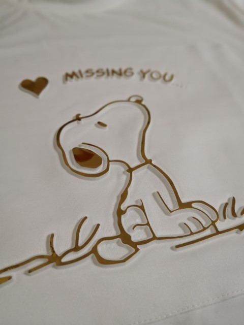 [Stock Clearance] 3D Snoopy Theme Missing You Printed T-Shirt