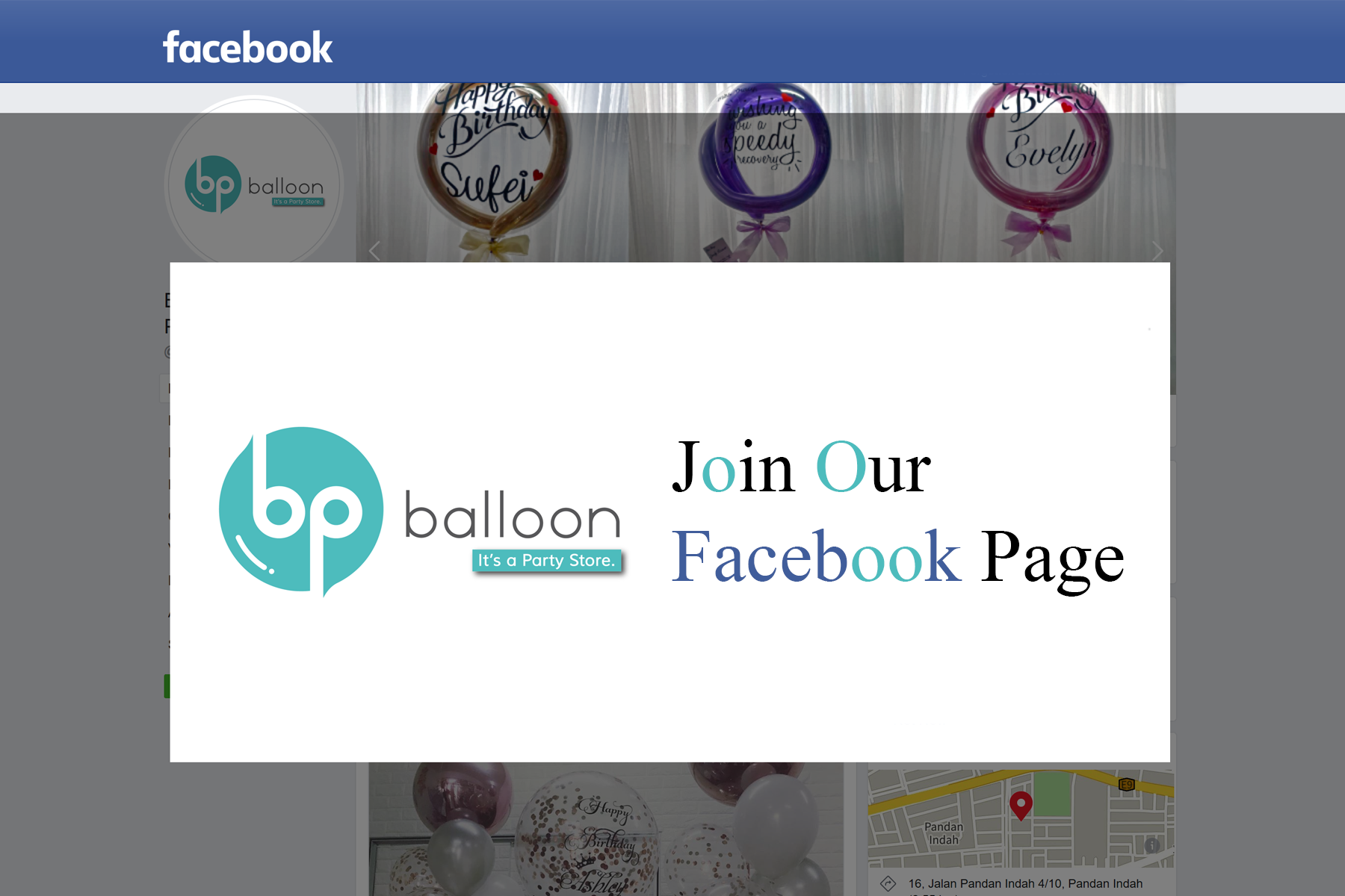 BP Balloon & Gifts | Join our Facebook Page