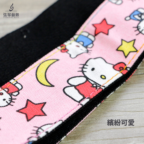 kitty 粉色 吉他背帶-4.jpg