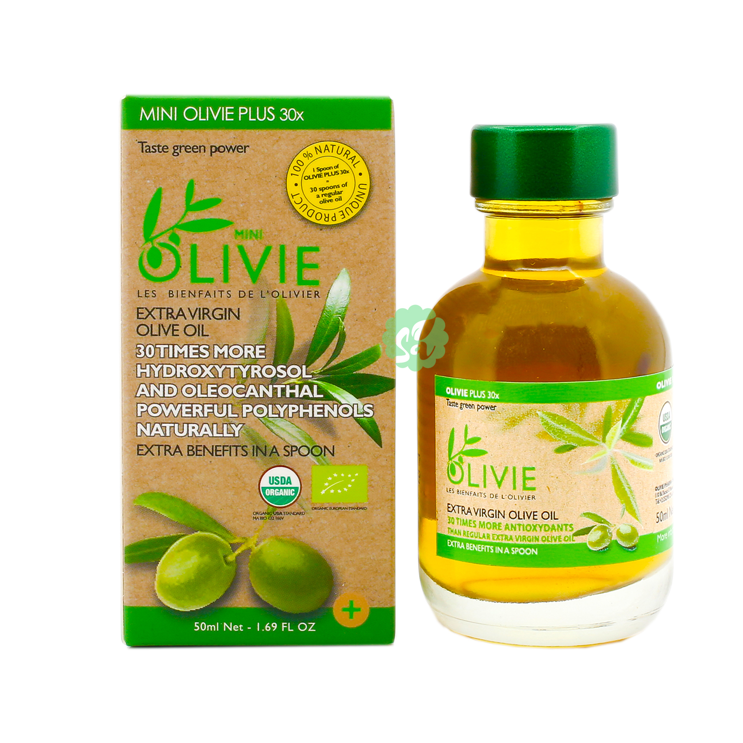 Extra Virgin Olive Oil - Mini Olivie Plus 30x - 50ml