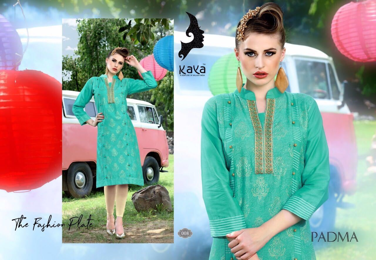 The Fashion Plate with Green and Brown Green Cotton Kurtis. Ready Stock