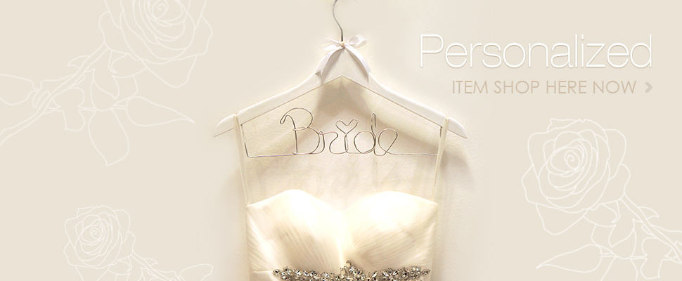 personalized bridal hanger wedding