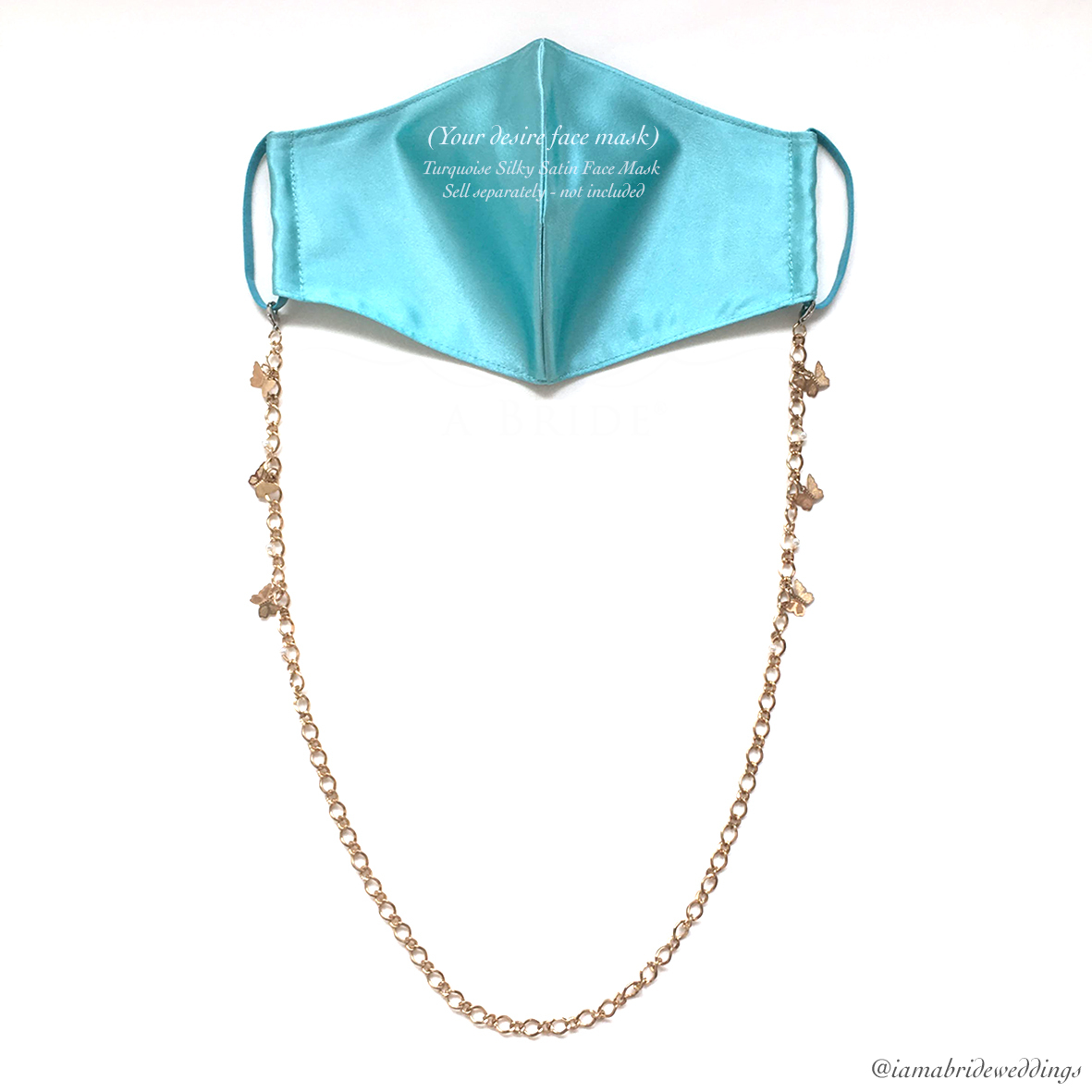 Butterfly Tanned Gold Chain with Turqoius face Mask  01.jpg