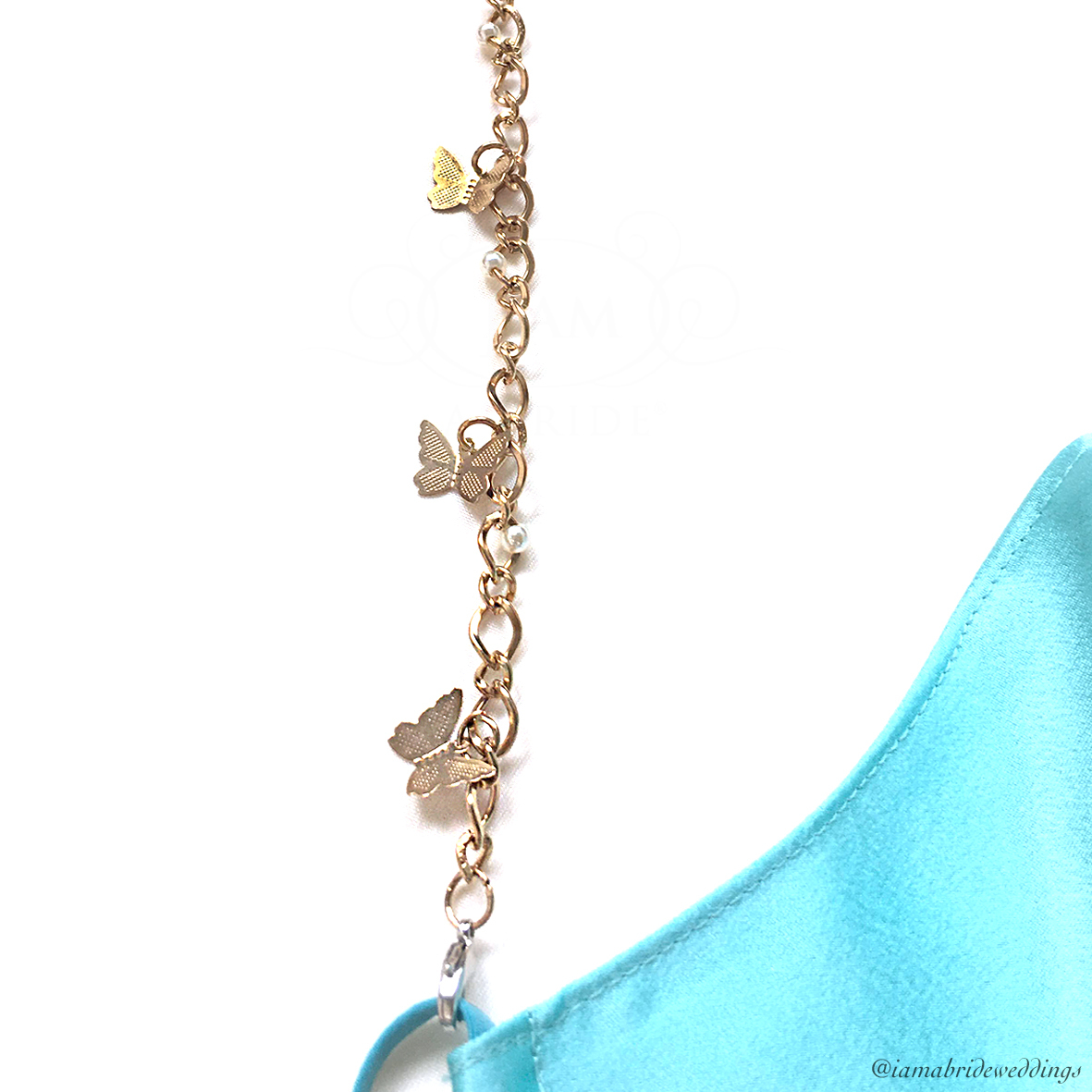 Butterfly Tanned Gold Chain with Turqoius face Mask  04.jpg