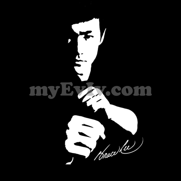 [Black] Bruce Lee Silhouette T-Shirt