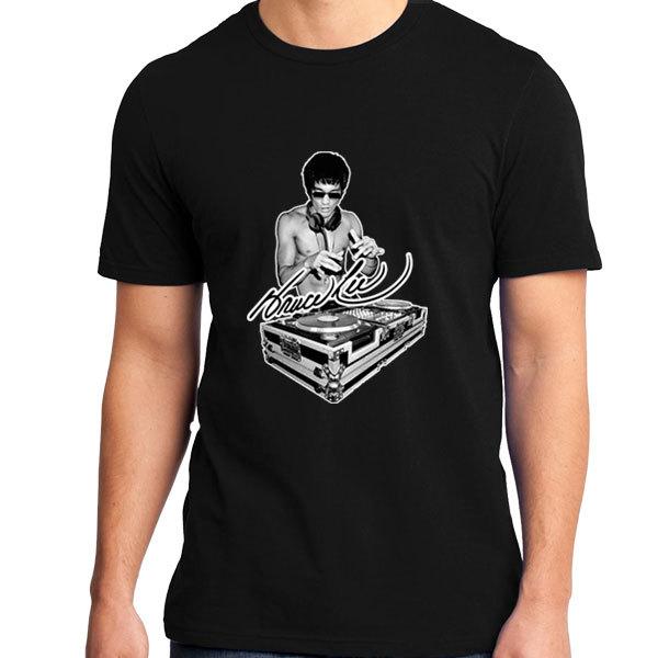 [Black/White] Bruce Lee DJ T-Shirt