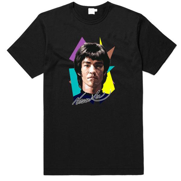 [Black/White] Bruce Lee Colour Portrait T-Shirt